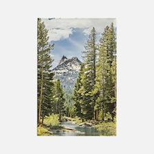 Mountain River Scene Rectangle Magnet