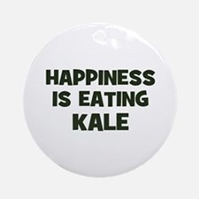 happiness is eating kale Ornament (Round)