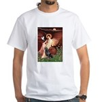 Angel #1/Rottweiler White T-Shirt