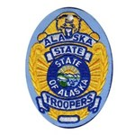 Alaska State Troopers Oval Ornament