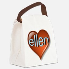 ellen Heart Canvas Lunch Bag
