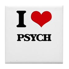 I Love PSYCH Tile Coaster