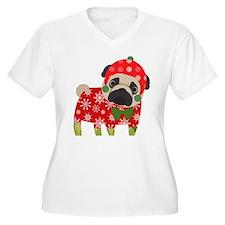 Snowflake Pug Plus Size T-Shirt