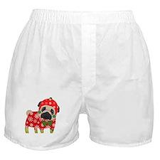 Snowflake Pug Boxer Shorts