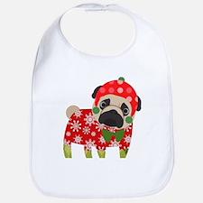 Snowflake Pug Bib