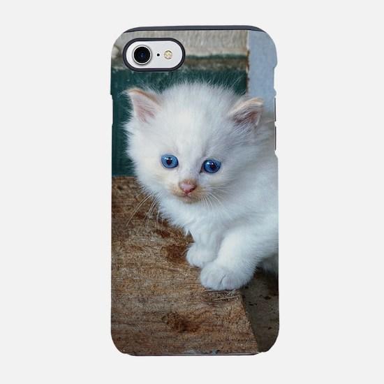 White Kitten iPhone 7 Tough Case