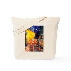 Cafe & Rottweiler Tote Bag