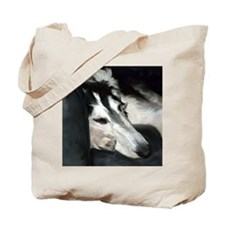 Silver Borzoi Sleeping Tote Bag