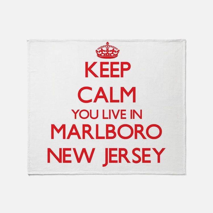 Keep calm you live in Marlboro New J Throw Blanket