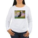 Garden / Rottweiler Women's Long Sleeve T-Shirt