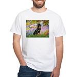 Garden / Rottweiler White T-Shirt