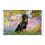Garden / Rottweiler Sticker (Rectangle)