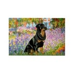 Garden / Rottweiler Rectangle Magnet (10 pack)