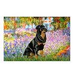 Garden / Rottweiler Postcards (Package of 8)