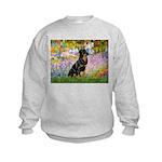Garden / Rottweiler Kids Sweatshirt