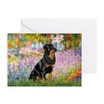 Garden / Rottweiler Greeting Cards (Pk of 10)