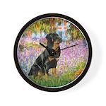 Garden / Rottweiler Wall Clock