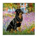 Garden / Rottweiler Tile Coaster
