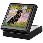 Garden / Rottweiler Keepsake Box
