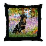 Garden / Rottweiler Throw Pillow