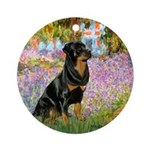 Garden / Rottweiler Ornament (Round)