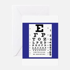 Eye Chart Greeting Cards