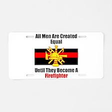 Hero Firefighter Aluminum License Plate