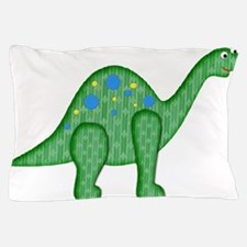 Green Playful Dinosaur Pillow Case