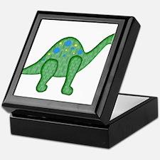 Green Playful Dinosaur Keepsake Box