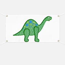 Green Playful Dinosaur Banner
