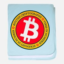 Full Color Bitcoin Logo with Motto baby blanket
