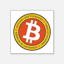 Full Color Bitcoin Logo with Motto Sticker