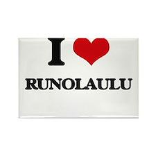 I Love RUNOLAULU Magnets