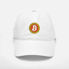 Full Color Bitcoin Logo with Motto Baseball Baseball Cap