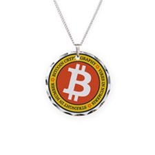 Full Color Bitcoin Logo with Necklace