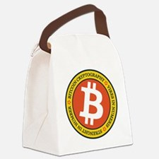 Full Color Bitcoin Logo with Mott Canvas Lunch Bag