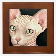Cat 412 sphynx Framed Tile
