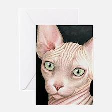 Cat 412 sphynx Greeting Cards