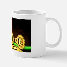 Bitcoin Tron Design Gold Mug