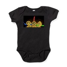 Bitcoin Tron Design Gold Baby Bodysuit