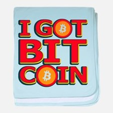 I Got Bitcoin Large Text baby blanket