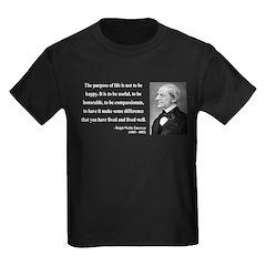 Ralph Waldo Emerson 17 Kids Dark T-Shirt