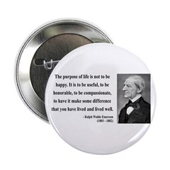 "Ralph Waldo Emerson 17 2.25"" Button"
