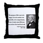 Ralph Waldo Emerson 17 Throw Pillow
