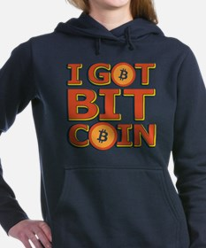 I Got Bitcoin Large Text Women's Hooded Sweatshirt