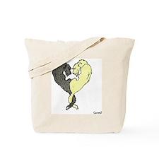 Irish Wolfhound Heart Tote Bag