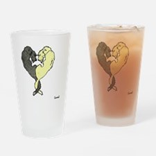 Irish Wolfhound Heart Drinking Glass