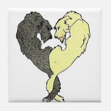 Irish Wolfhound Heart Tile Coaster