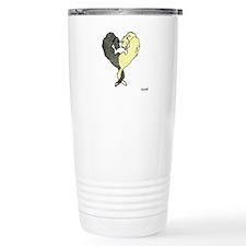 Irish Wolfhound Heart Travel Mug