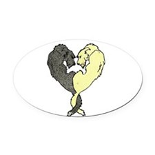 Irish Wolfhound Heart Oval Car Magnet